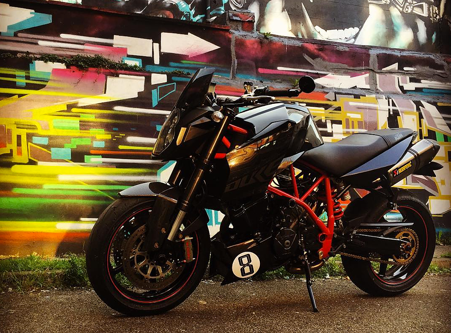 KTM 990 Superduke - fully rebuilt & modified.