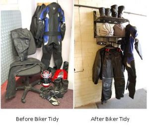 Before Biker Tidy & after Biker Tidy