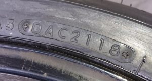 A simple check can show how old your tyres are. On the tyre wall, you will find a 4 digit number in an oval. This is the week & the year your tyres were made. Our example below '2118' means they were made in the 21st week of 2018.