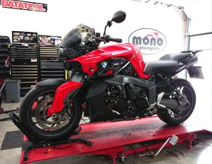 Part of the service for the K1300R was to undertake a full diagnostic sweep & turn the service light out. Reaping the benefits of the TEXA diagnostic capabilities at mono motorcycles.