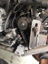 Daniel fitted the reverse gear to the CBR600 engine by first welding a gear from a ZZR1400 gearbox to the sprocket nut.