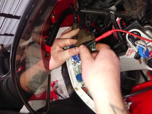 Once the reg rec was fitted & Daniel was able to start the VFR, he then set about diagnosing the issue with the speedo.