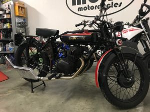 Our Triumph bitsa returned home this week, after we had discovered that the speedo fitted prior to her arrival, was actually designed for a 12v battery (Triumph/CB200 ran a 6v) & would therefore never run on the 6v Triumph.