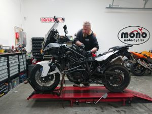Once the rest of the service was completed, a full diagnostic sweep undertaken & the KTM rebuilt; a full 8 hours had passed from start to finish.