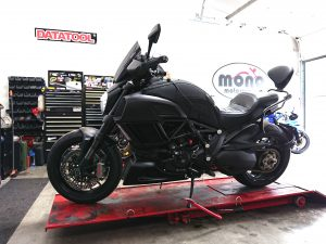 The final bike up on the ramp this week, was the menacing Black Ducati Diavel.