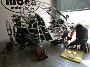 The Polaris buggy with the Honda CBR 600 engine returned on Tuesday for the second phase of service & repair.