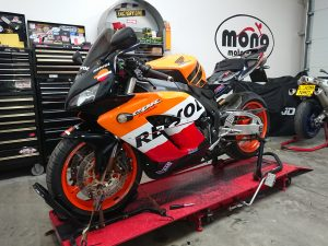 The final Japanese guest this week, is the very clean REPSOL Honda CBR1000 RR, who has joined us for a full service.